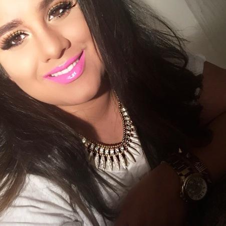 Glitter, gold, pink lipstick